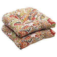 Outdoor Settee Cushions Set Of 3 Clearance Outdoor 2 Piece Wicker Chair Cushion Set Green Off White Red