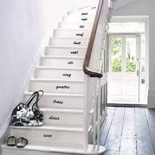 How to decorate stair risers with numbers