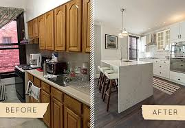 Kitchen Cabinets In Queens Ny Before U0026 After A Queens Townhouse Kitchen Gets A Chic Update