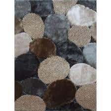 8 x 10 large gray u0026 beige area rug shaggy viscose design rc