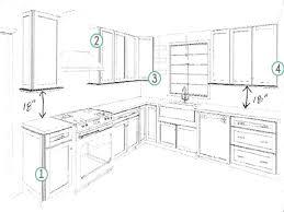 kitchen cabinet layout dimensions kitchen