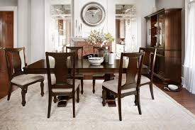 vienna dining table and 6 side chairs merlot value city furniture