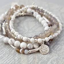 stacking bracelets harmony silver and gemstone charm bracelet stack by essentia by