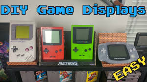 easy diy game display game room ideas youtube