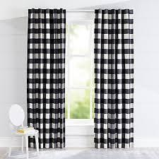 Black And White Blackout Curtains Curtains Hardware Bedroom Nursery Crate And Barrel
