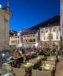 Gradska Kavana Arsenal Restaurant Terrace Featuring The Views Of The Port And Fortress St