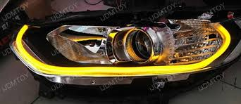 how to install led lights in car headlights how to install audi style switchback led strip