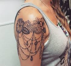 lace tattoo designs on shoulder creativefan
