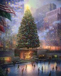 christmas in new york u2013 limited edition art the thomas kinkade