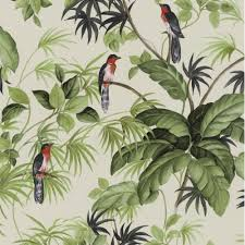Wallpaper For House by P U0026s International P S International Tropical Exotic Birds Trees