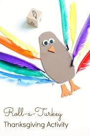 roll a turkey thanksgiving activity thanksgiving activities and