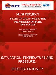 slide mini project thermodynamics enthalpy temperature