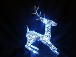 lighted deer lawn decorations painting ideas