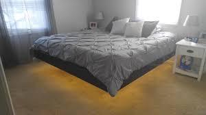 Floating Bed Frames Bed Frames Platform With Nightstands Attached Diy Floating