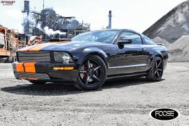 2009 Black Mustang Gt 2009 Ford Mustang Gt Foose Enforcer F154 Wheels Gloss Black W