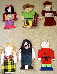 make multicultural paper dolls