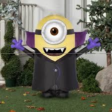 walmart inflatable halloween decorations gemmy airblown inflatable 4 5 u0027 x 4 u0027 batty minion halloween