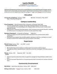 Recent Graduate Resume Example by Great Resume Template For Recent Graduates With List Campus