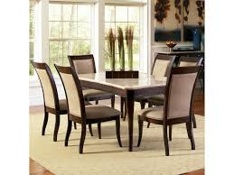 Silver Dining Room Set by Steve Silver Marseille 7 Piece Rectangular Marble Table And
