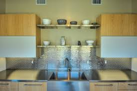 stainless steel backsplash tiles kitchen contemporary with frosted
