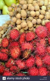 lychee fruit lychees fruit food on sale market jalan petaling street kuala