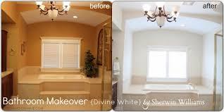 Decor White Sherwin Williams Master Bathroom Update With Divine White Bonnie Donahue