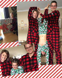 families more when they wear canada plaid matching