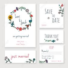 Free E Wedding Invitation Card Templates Fascinating Wedding Invitations And Rsvp Card Sets 97 With
