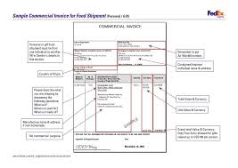 commercial invoice template fedex form word doc invoices