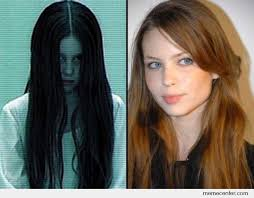 Creepy Girl Meme - the creepy girl from the ring then and now by ben meme center