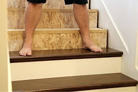 installing stair treads bad laminate stair installation it shows