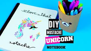 Mustache Home Decor by Diy Supplies Unicorn Mustache Notebook Decoration Design