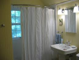 corner shower curtain rod ceiling support home design ideas