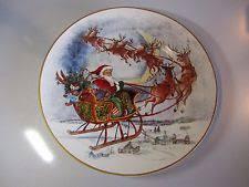 Pottery Barn Christmas Decorations Ebay by Pottery Barn Nostalgic Santa Round Serving Platter Christmas