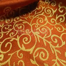 Orange Curtain Material Sofa Fabric Upholstery Fabric Curtain Fabric Manufacturer Elegant