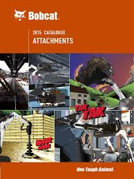 attachment catalogue bobcat loader equipment construction