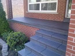 coloured concrete front porch restoration etobicoke ontario