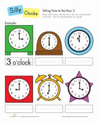 telling time to the hour telling time the hours and worksheets