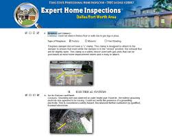 sample home inspection reports home inspections dallas fort worth