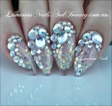 nails with bling beautify themselves with sweet nails