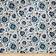 discount home decor fabric jaclyn smith 02097 linen blend cobalt jaclyn smith valance
