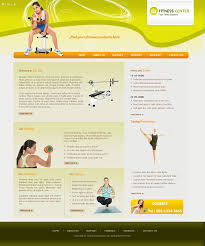 html personal website templates fitness centers
