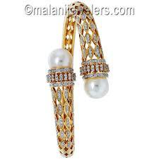 bangle bracelet with pearl images Women jewelry indian jewelry online jewelry store diamond jpg