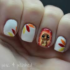 thanksgiving turkey nail art pink u0026 polished gobble gobble