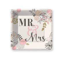 bridal shower plate mr mrs paper plates pkg 8 wedding plates cake plate wedding