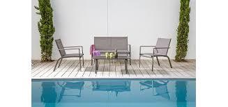 canapé de jardin design salon de jardin sevilla taupe achetez nos salons de jardin sevilla