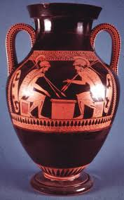 Greek Black Figure Vase Painting Pminos