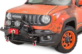 daystar lift kit is real daystar kj50000bk front winch bumper for 15 17 jeep renegade bu