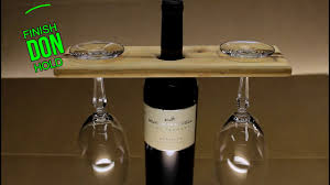 easy diy wooden wine bottle glass holder new youtube