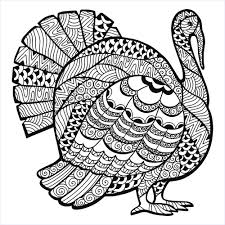 thanksgiving turkey zentangle coloring page from the gallery